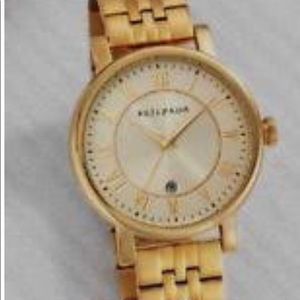 Silpada gold color large dial watch